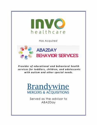 INVO Healthcare acquires ABA2DAY Behavior Services