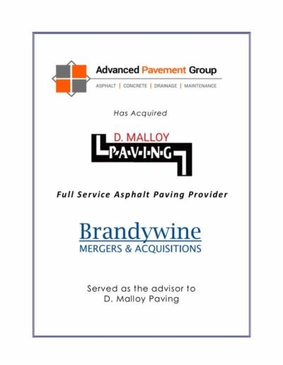 Advanced Pavement Group acquires D. Malloy Paving