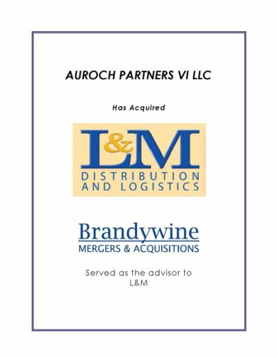 Auroch Partners VI LLC acquires L&M Distribution and Logistics