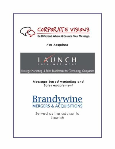 Corporate Visions acquires Launch International